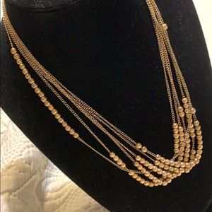 Gold tone necklace vintage